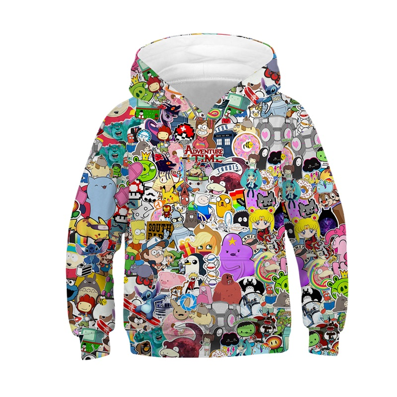 Raisevern Cartoon Anime Girls Boys Hoodies Kids Hooded Sweatshirt Children Spring Autumn Casual Loose Clothes Tops 3D HoodieRaisevern Cartoon Anime Girls Boys Hoodies Kids Hooded Sweatshirt Children Spring Autumn Casual Loose Clothes Tops 3D Hoodie