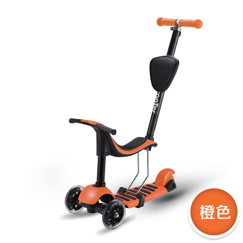 4 In 1 Child Tricycle Scooter Three Wheels Stroller Balance Scooter Children Tricycle Car Tricycle Trolley for Kids 2-12 Years набор стаканов pasabahce valse 315 мл 6 шт