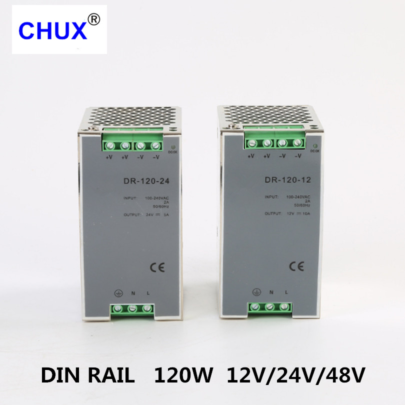 Image 3 - Din Rail Switching Power Supply 120W 12v 24v 48v DC AC DR120W Single Output LED Driver SMPS Switch Transformer-in Switching Power Supply from Home Improvement