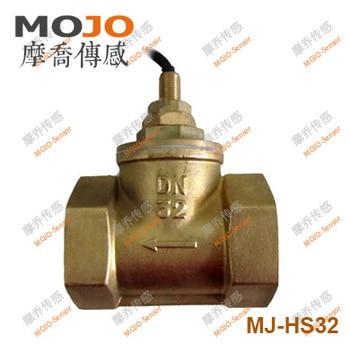 2020 MJ-HS32(5pcs/lot) DN32 G11/4'' Piston-type flow switch Brass material