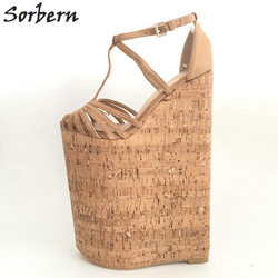 Sorbern Extreme High Heels Luxury Shoes Women Designers Summer Sandals For Women Wedges Platform Customized Large Size 33-46 3