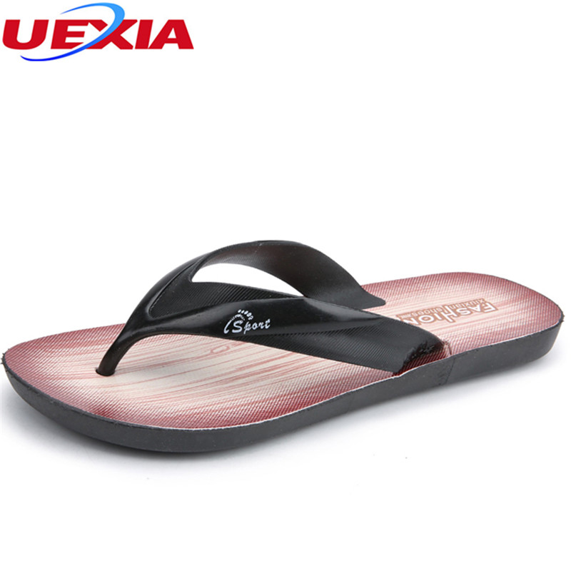 UEXIA Men Fashion Flip Flops Indoor/Outside Slippers Patchwork Design Man Summer Casual Shoes Adults Breathable Permeable Beach hot sale natural man hemp flip flops summer breathable fashion beach sandal shoes men s casual canvas slides shoes free shipping