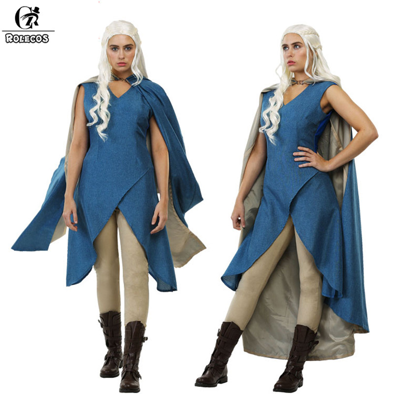 ROLECOS Game of Thrones Cloak For Women Mother of Dragons Cosplay Costumes Hooded With Capes Christmas Gift Black Friday 2017