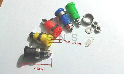 50pcs 5 Color  4mm Banana Jack Binding Post Nut for Multimeter banana socket