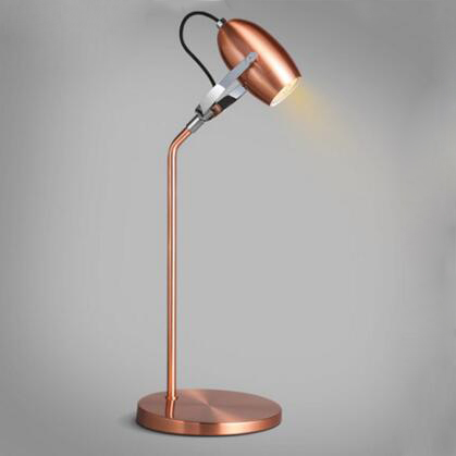 Modern Rose Gold Led Table Lamps Rotatable Desk Lamp Office Study Living Room Bedside