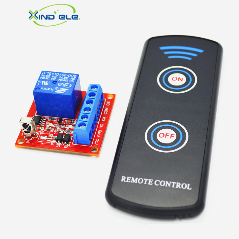 XIND ELE 1CH 5V DC IR Remote Switch Support Connect Button Switch +2-key Control For Home Light Garage Door #IR05-1SMM+LPM2# cltgxdd aj 131 micro switch 3 5 3 1 8 for citroen c1 c2 c3 c4 c5 c6 c8 remote key fob repair switch micro button