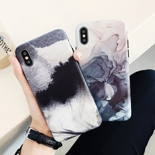 Fashion Art ink Painting Soft Case for iphone XS XsMax XR Case Ink Abstract Landscape for iphone6 6S 7 8 9 Plus X Case TPU Cover oaxis inkcase ivy e ink reader for iphone 8 7 6s