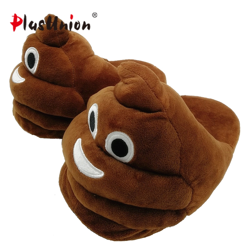 plush winter emoji slippers indoor animal furry house home men slipper with fur anime women cosplay unisex cartoon shoes adult designer fluffy fur women winter slippers female plush home slides indoor casual shoes chaussure femme