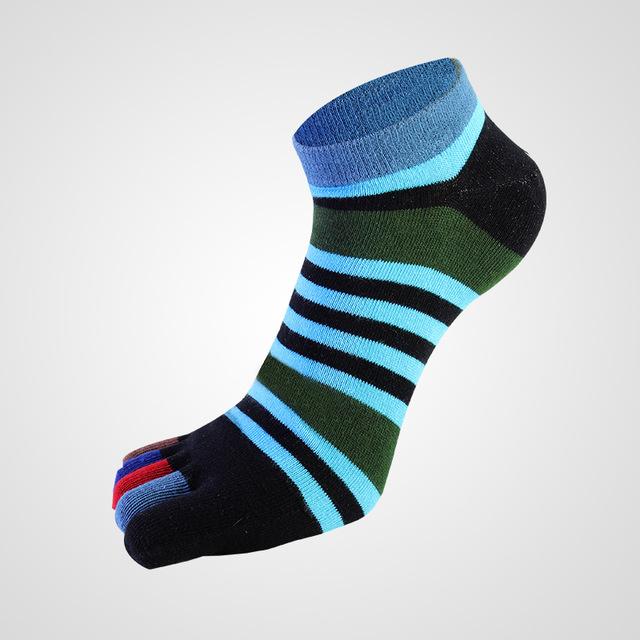 Men's Colorful Striped Toe Socks