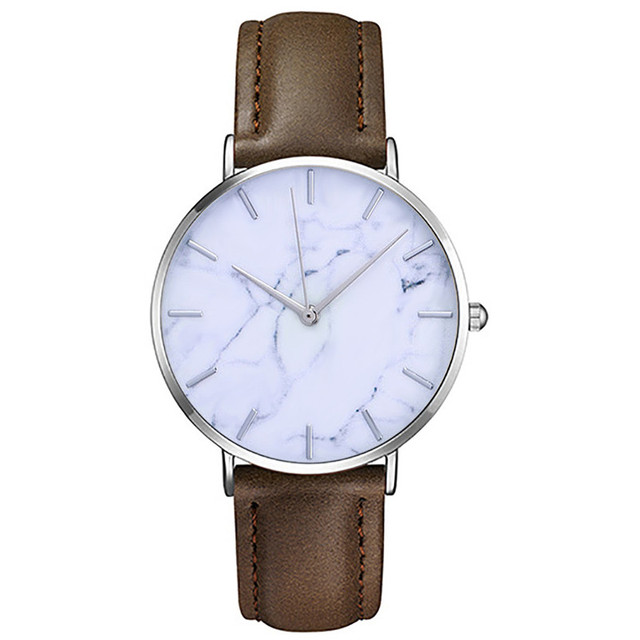 Newly Fashion Men Women Watch Slim Leather Analog Classic Casual Wrist Watch Sports Watches Dial montre femme best gift A2