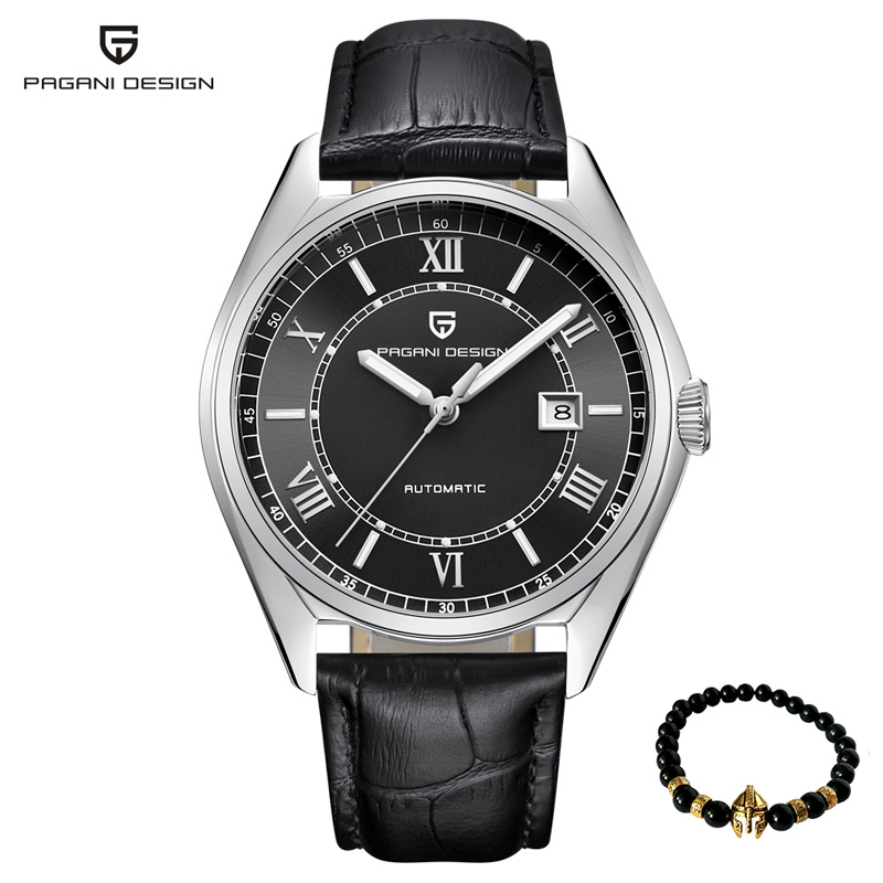 Pagani Sport Mechanical Men Watch luxury Fashion military Automatic waterproof Men wristwatch Leather Business Relogio Masculino zuejannes 3008g fashion men wristwatch