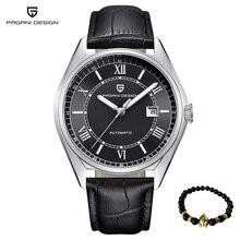 Esporte Pagani Mecânica Homens Relógio de luxo de Moda militar Automatic Men relógio de pulso à prova d' água de Negócios de Couro Relogio masculino