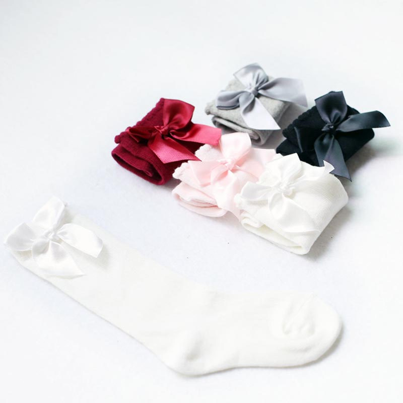 Winter-Warm-Baby-Girls-Knee-High-Socks-with-Bows-Princess-Cute-Long-Tube-Kids-Booties-Vertical-Striped-Socks-2