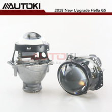 AUTOKI Hella G5 Head lamp Bi-xenon Projector Lens Car styling Aluminum 3.0 Inch Replace Headlamp Retrofit D1S D3S D4S D2S 2pcs 3 0 inch hella 5 car bi xenon hid projector lens metal holder d1s d2s d3s d4s xenon kit lamp car headlight universal modify