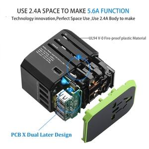 Image 4 - Rdxone Plug Adaptor travel adapter Universal Power Adapter Charger for US UK EU AU wall Electric Plugs Sockets Converter