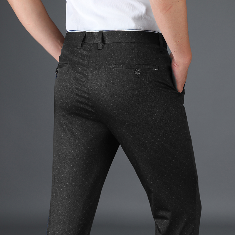 Summer Thin Fashion Men Casual Pants High Quality Brand Clothing Work Pants Male Cotton Formal Business Regular Trousers Man