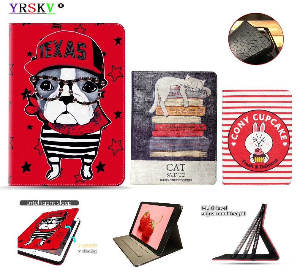 Case For iPad Air/Air2,for iPad Pro 9.7 2016,for iPad 9.7 inch 2018/2017,YRSKV,New,Anime pattern PU Smart wake up sleep function