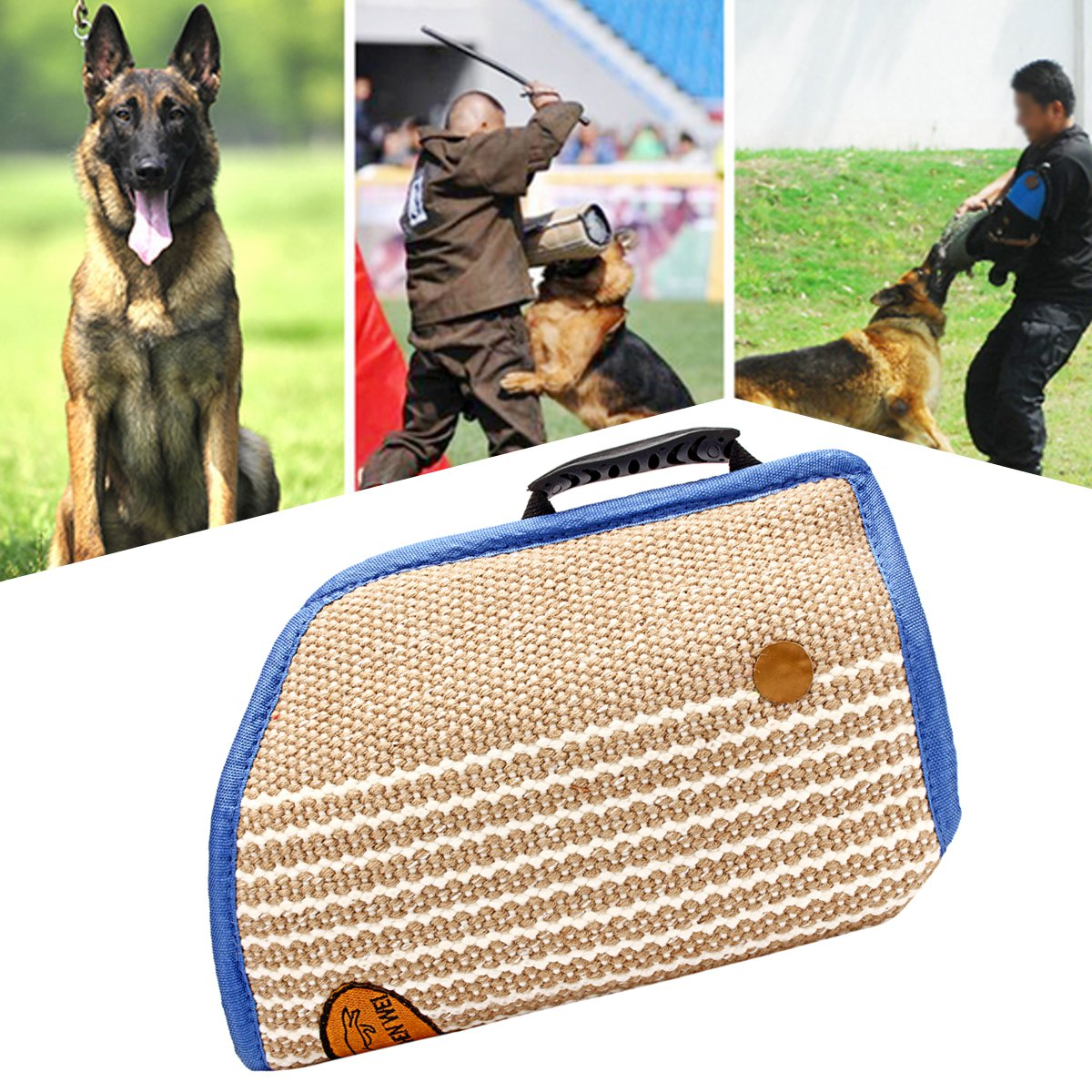 Outdoor Pet Dogs Bite Sleeve Arm Protection Safety Free Training Walking Tug Dog Training Supplies Young Medium Dogs Equipment