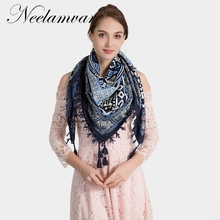 Neelamvar brand fashion scarf 2019 big square scarves Kerchief Chinese national style Autumn and Winter warm thick cape