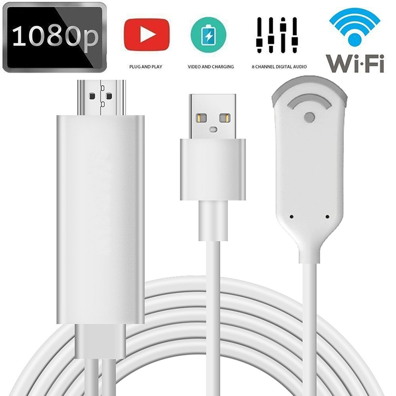 DOITOP Phone Screen to HDMI Converter Wireless WiFi HDTV TV Projector HDMI HD Audio Video Cable Adapter For iPhone iPad Samsung