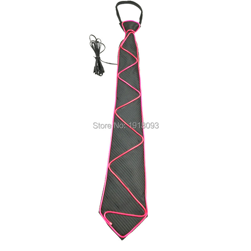 New Style El Wire Glowing Tie Electroluminescent Wire El