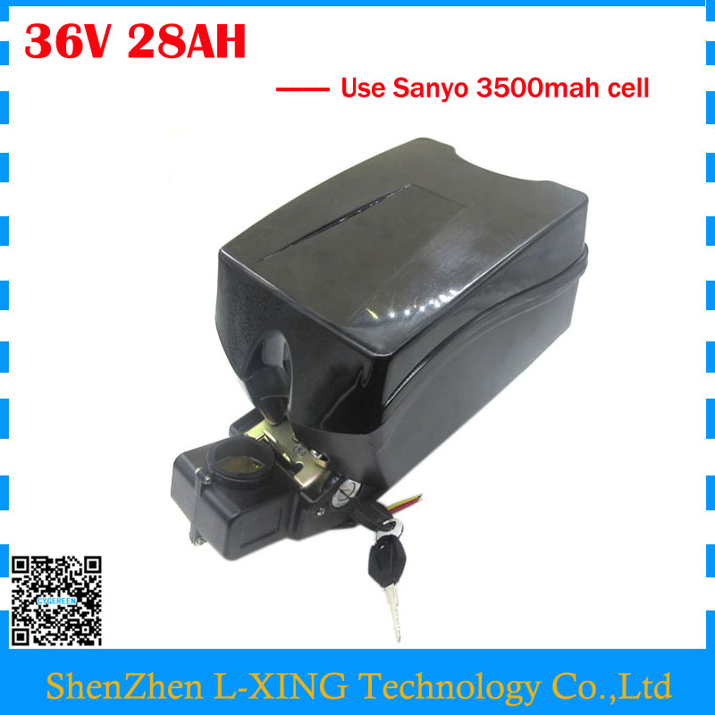 Free customs duty 36V electric bike battery 36V 28AH lithium battery use NCR18650GA 3500mah cell 30A BMS with 42V 2A Charger free customs duty 1000w 48v battery pack 48v 24ah lithium battery 48v ebike battery with 30a bms use samsung 3000mah cell