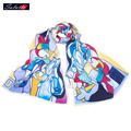 SALUTTO2016 New Retro100% Silk Woman Scarf Spring Shawls Painting Mulbery Foulard Luxury Echarpes Foulards Femme Shemagh Bufanda