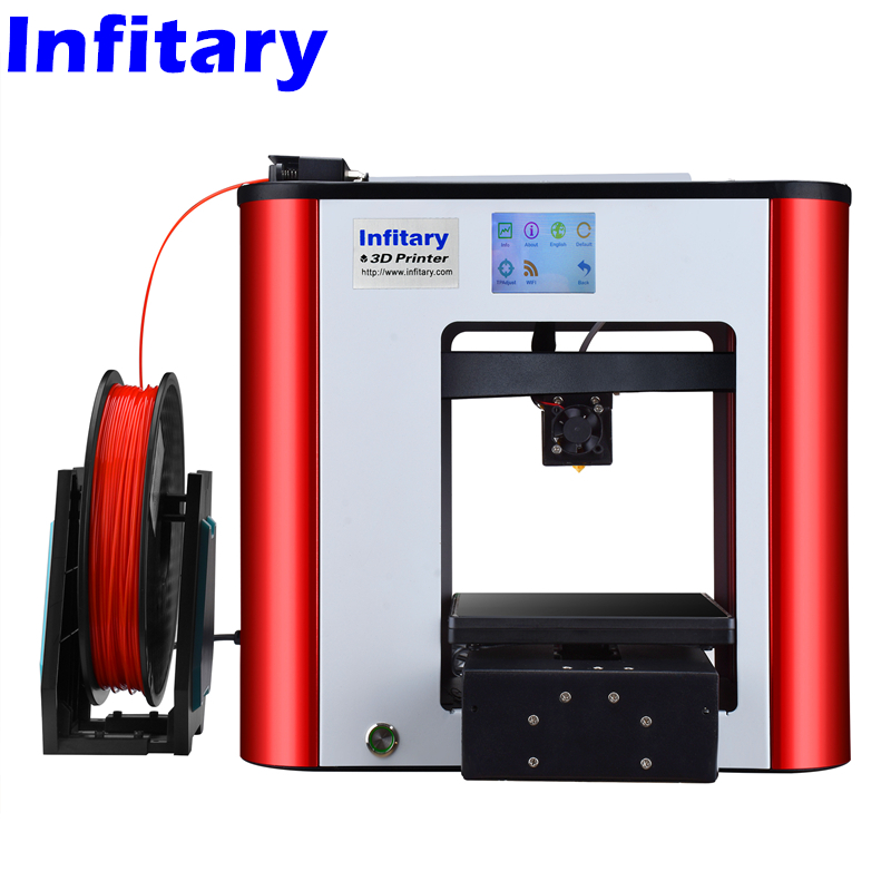 Infitary Semi Auto Leveling 3d Printer Assembled Metal 3d printer ChiTu Mainboard series High Precision Touch screen 3D Printer 2017 assembled jennyprinter3 z360ts dual extruder nozzle extended for ultimaker 2 um2 high precision auto leveling 3d printer