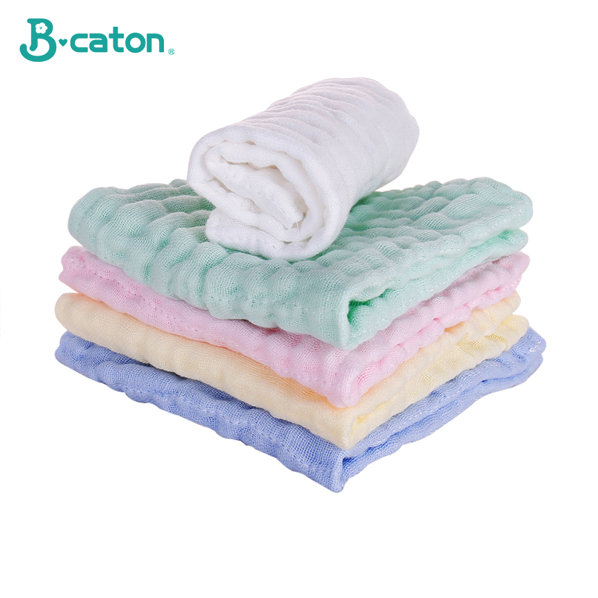 Towel Baby Face Towel Baby Handkerchief Baby Bath Cotton Burp Cloth Soft  Absorbent 6-Layer Gauze Kindergarten Washcloth 30X30Cm