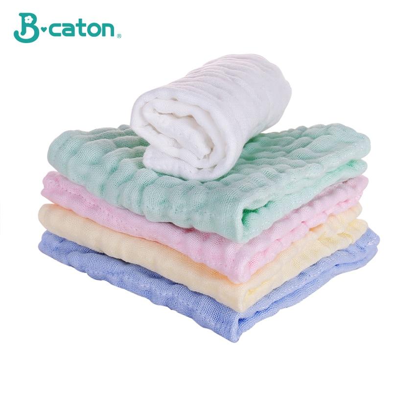 Towel Baby Face Towel Baby Handkerchief Baby Bath Cotton Burp Cloth Soft  Absorbent 6-Layer Gauze Kindergarten Washcloth 30X30Cm