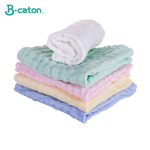 Towel Baby Face Towel Baby Handkerchief Baby Bath Cotton Burp Cloth Soft  Absorbent 6-Layer Gauze Kindergarten Washcloth 30X30Cm towel baby bath towel vomit milk cotton gauze baby diapers soft and absorbent household multicolor differential use 50 68cm