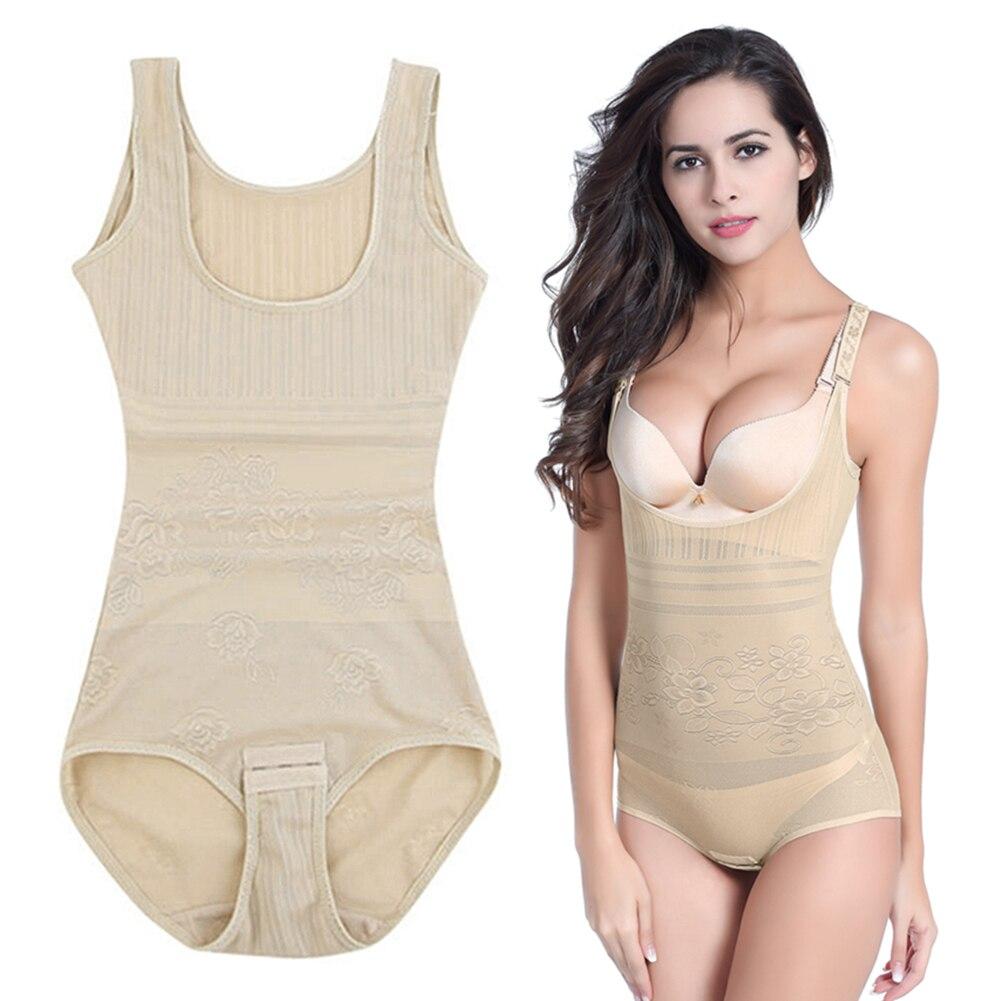 Super Thin One Piece Womens Tummy Control Underbust Slimming Underwear Shapewear Body Sh ...