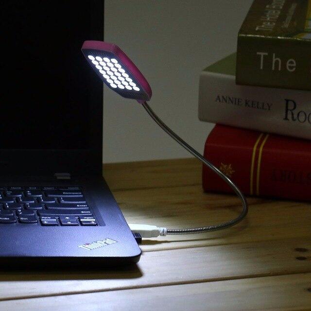 1 st cke helle 28 led usb mini licht flexible computer. Black Bedroom Furniture Sets. Home Design Ideas