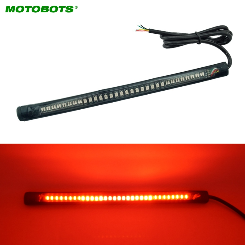 20Pcs Red and Amber Motorcycle Car 48LED LED Turn Signal Light Tail Brake Stop License P ...