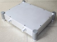 340*430*92MM DIY pre amplifier chassis,Use for DIY tube amplifier case,Full Aluminum amplifier Enclosure