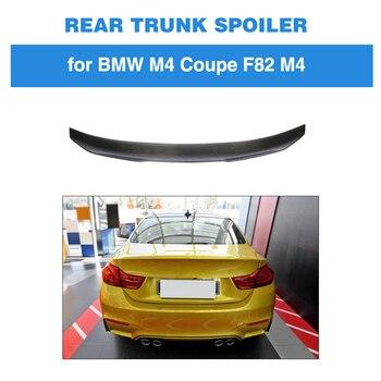 עבור BMW F82 M4 קופה 2 דלת 2014-2018 האחורי Trunk ספוילר אתחול כנף שפתיים סיבי פחמן