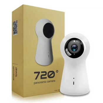 Dual Lens Super Cool 720 Degree 1080P  Panoramic 3D Stereo Camera 2MP Wireless Wifi IP Camera Fisheye with No Dead angle