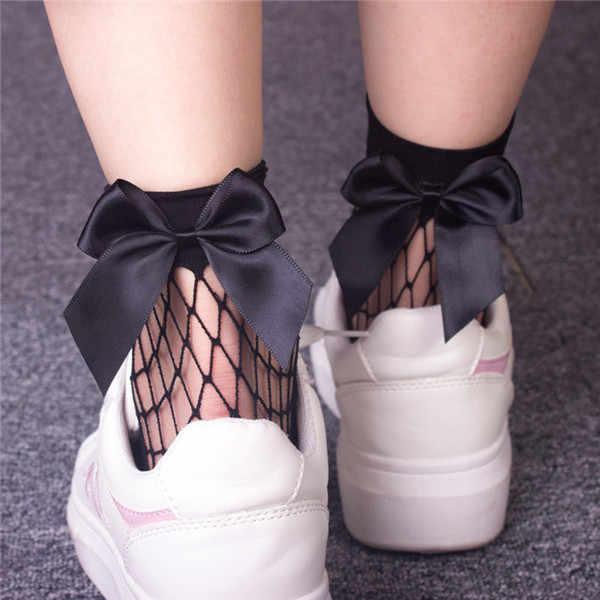 ファッショングリッターちょう結びカジュアルローカットソックス女性の夏の花 Calcetines デ Mujer Meias 靴下女性のための