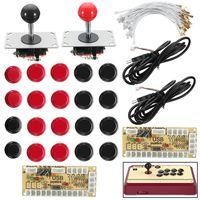 Zero Delay Joystick Arcade DIY Kit 2 LED USB Encoder 2 Joystick 20 Illuminated Push Buttons