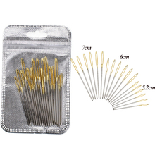 18pcs 5.2-7.0cm Blunt Gold Tail Large Eye Needles Stainless Steel Straight Pins DIY Craft Tool Embroidery Tapestry Sewing Needle