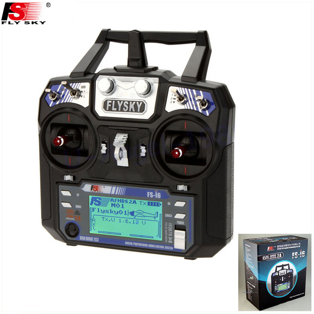 1pcs New Version FS FlySky FS i6 2 4G 6ch Transmitter FS iA6B Receiver System LCD