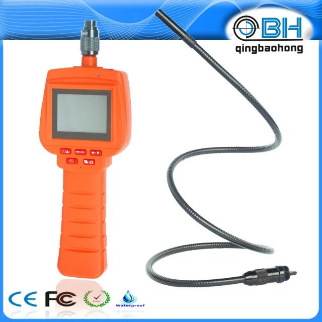 17mm Rigid Cable Detechable 2.4 Inch AV Handheld Endoscope