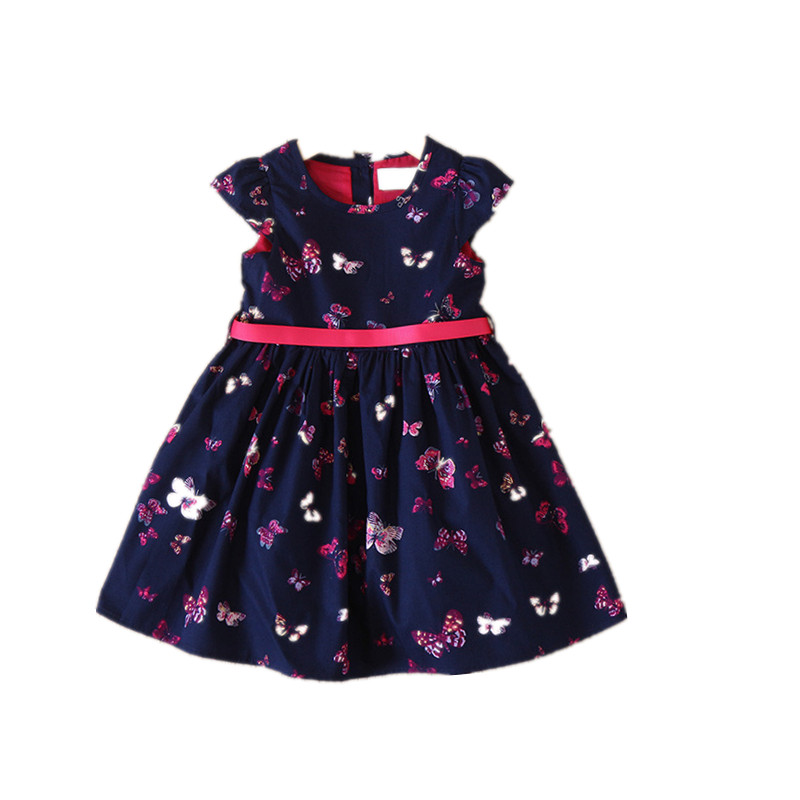 Y32055638 2018 Baby Girl Dress For Girls Dress Summer Toddler Butterlfy Fashion Girls Princess Dress Girl Clothes Children Kids цены онлайн
