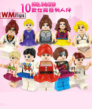 uniform Professions Set Sale Dress Cartoon Girls Princess Girls dressing Play Nurse Nanny Building Blocks Kids Toys for Gift(China)