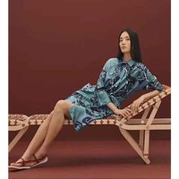 Cosmicchic платье рубашка с принтом, высокое качество, одежда с длинным рукавом, платье для подиума, шелковое синее Повседневное платье с принтом