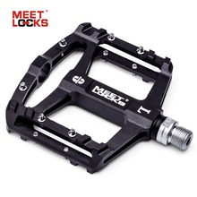 MEETLOCKS Three Sealed Bearing Bicycle Pedal Ultralight Aluminum Alloy Nonskid Bike Pedals Cycle Treadle Bicycle Accessories