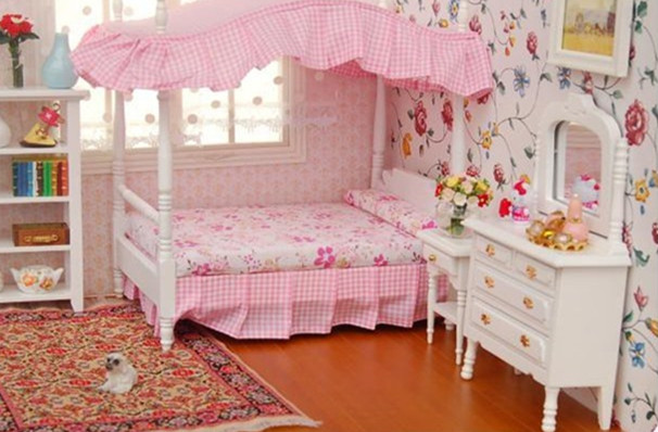 48482 Cute MINI Dollhouse Miniature Furniture Accessories Dollhouse New Bedroom Furniture Accessories