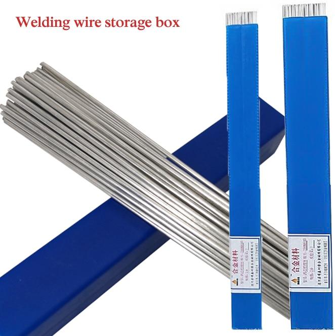 100/500pcs Welding Wire Storage 1.6mm/2mm*50cm Low Temperature Aluminum Welding Wire Storage Box Big Capacity Storage Space(China)