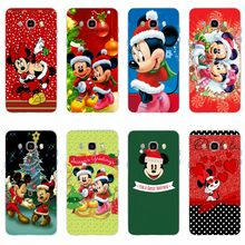 Mickey Minnie Mouse Christmas Cover TPU Phone Case For Samsung Galaxy S6 S6edge S6Plus A7 S7 S7edge S8 S9 Plus A5 J2 J5 J7 2016(China)