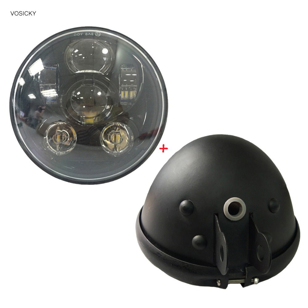 ФОТО VOSICKY 5.75 inch housing bucket Black led Daymaker with  5.75